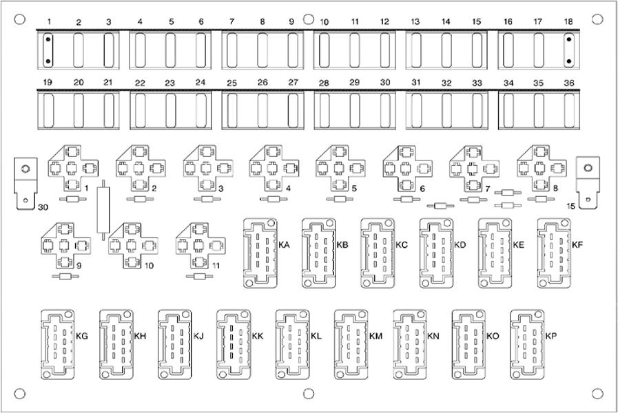 Predohraniteli Vol'vo, staraja jelektricheskaja sistema.